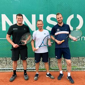 Tennistrainers Ron, Davy en Martijn
